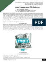 Study on E-waste Management Methodology