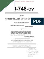 June 21, 2016 Second Circuit Brief of Matthew Christiansen against Omnicom for Employment Discrimination