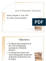 Assessment of Diastolic Function
