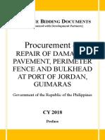 Bid Docs Repair.damaged Pavement, Perimeter Fence of Jordan Port