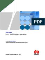 Huawei OLT MA5600T 10G GPON H801XGBD Board Hardware Description