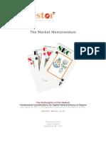 The Market Memorandum for the NCM  - 060910
