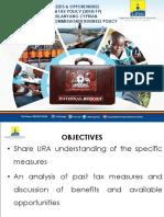 URA - Presentations for the Tax Amendments 2018-19