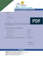 Formulaire Sponsor Foire Edition 2