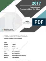 Perkembangan Transportasi Provinsi Sulawesi Utara Tahun 2017