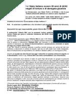 Violazioni ai diritti umani e Caso v. Miri c Italia e Informativa-Denuncia-Querela Con Foto