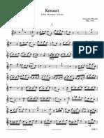 Marcello - Concerto for Oboe Oboe and Piano