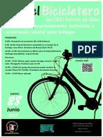 En el Bicicletero del CRAI... Jornadas de emprendimiento sostenible y orientación laboral para biólogos
