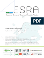 ESRA 2015 Results road safety