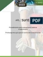 Procedimiento para evaluaciones médicas ocupacionales