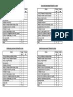 Lista de Cotejo Para Evaluar Participación en Clases