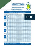 Tabela Controle Figurinhas Album Copa Do Mundo 2018 Russia Panini