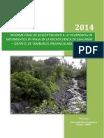 Estudio Smm Microcuenca Sahuanay Apurimac 2014