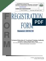 Registration Forms 2018 2019