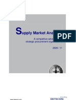 Detecon Opinion Paper Supply Market Analysis. A competitive advantage for strategic procurement organizations