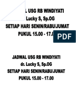 Jadwal USG