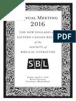 2016 NE-EC SBL Program Print