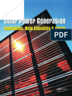 Solar Power Generation - Technology, New Concepts & Policy