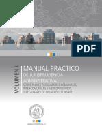 CONTRALORÍA, 2014 - VI - Manual Práctico de Jurisprudencia Administrativa, Sobre PRC, I y Metropolitanos, y Regionales de Desarrollo Urbano.pdf