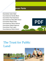Denver City Council Member Jolon Clark Denver Parks Sales Tax Presentation