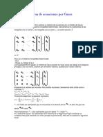 Sistema de Ecuaciones Por Gauss