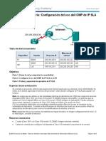 4.13.1.3 Lab - Configure IP SLA ICMP Echo