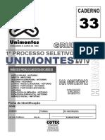 Unimontes 2013 1 Prova Completa Humanas Grupo II