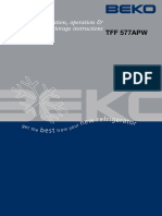 Beko Manual TFF 577APW