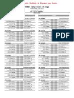 Calendario LIGA FMDS PÁDEL MASCULINO 2010/2011