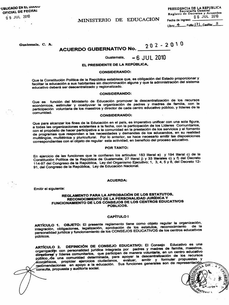 Acuerdo Consejos Educativos