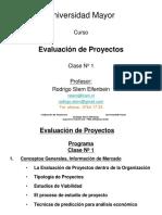 Evaluación de Proyectos, clase 1