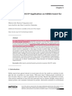 Constrainsts of HACCP Application on Edible Insect for Food and Feed