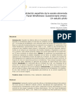 FFMQ - validación española de escala abreviada.pdf