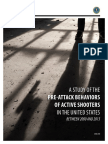 A Study of the Pre-Attack Behaviors of Active Shooters in the United States Between 2000 and 2013