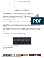 Cómo Escribir La Arroba (@) en Tu 'Laptop'
