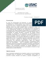 Programa Curso Antropología Del Desarrollo