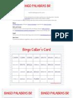 Bingo Palabras Br