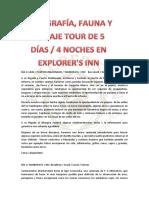 Tour de Fotografia 5 Dias 4 Noches PDF
