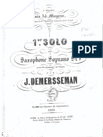 Premier Solo Demersseman saxophone