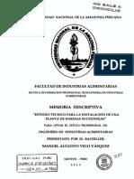 Estudio Técnico Para La Instalación de Una Planta de Harinas Sucedáneas.