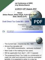 23 Draft Direct Tax Code Bill 2009 by Jain k V