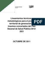 Plan SP 2011 Lineamientos