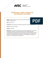 Workshop Bienestar Terneros Lactantes