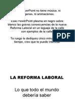 La Reforma Laboral 2010