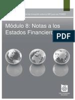 Modulo 8.Notas a Los Estados Financieros (NIIF PARA PYMES)