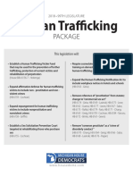 Human Trafficking Bill Descriptions