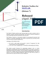 Robotics Toolbox for MATLAB.doc