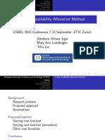 A New Availability Allocation Method-ESREL Presentation