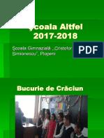 Şcoala Altfel Plopeni-2017-2018- Prezentare PPT