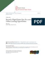 beyond a digital status quo